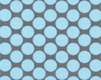 1/2 yard, Full moon dot in slate, lotus collection by Amy Butler