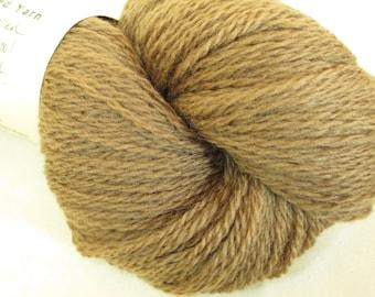 Wool Yarn - Walnut-Dyed Fingering Weight - Plant-Dyed Tonal Yarn - YAF111607 - 100 grams