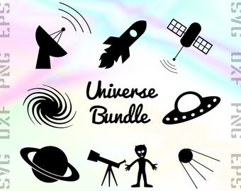 Space SVG Files - Space Dxf Files - Space Clipart - Space Cricut Files - Universe Cut Files - Space Png Files - Svg, Dxf, Png, Eps Vectors