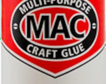 Mac Glue, Adhesive, Best Glue for Glass on Glass Application, Multi Purpose Glue, Mosaic Glue 8 oz.