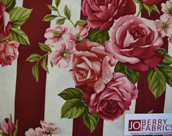 Roses, Rosie's Summer by Stof Fabrics of Denmark, Quilt or Craft Fabric, Fabric by the Yard
