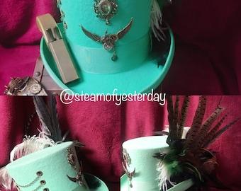 Green Steampunk Top Hat
