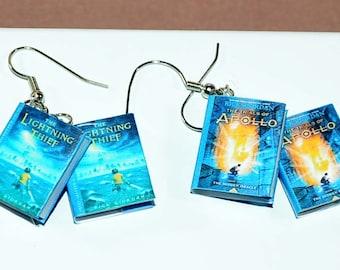 Percy Jackson book earrings