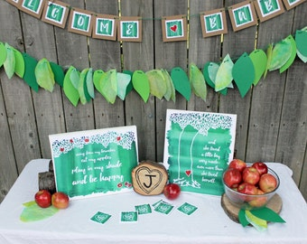 The Giving Tree baby shower decorations