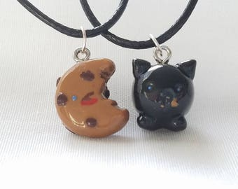 BFF 18 in Necklaces- Set of 2 Cookie and Hungry Kitty