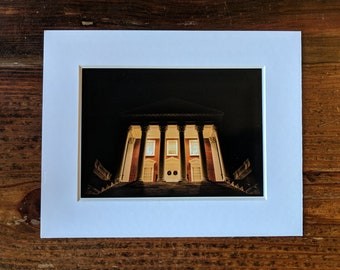 University of Virginia 5x7 Matted Photo of The Rotunda During Christmas