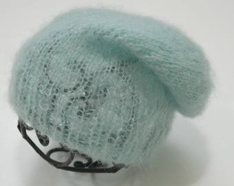 Newborn mohair slouch hat - mohair hat - slouch hat - photo prop - READY TO SHIP