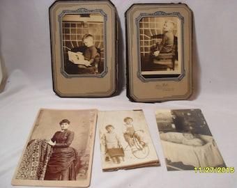 Nice Lot of Assorted Antique Photos, Postcard,Studio, Children