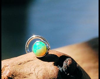 Green Opal Nose Stud 4mm - CUSTOMIZE