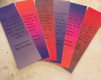 Hunger Games Quotes Bookmark