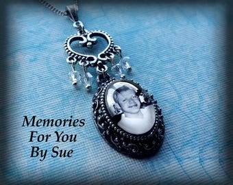Personalized Necklace-Custom Photo Pendant Necklace-Custom Made Jewelry-In Memory Of-Keepsake Jewelry-Memorial Jewelry-Loss of Son