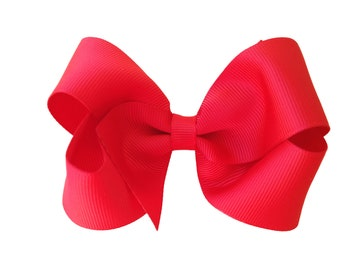 Red hair bow - hair bow, hair bows, bows, hair bows for girls, baby bows, toddler bows, girls bows, boutique bows, hair clips, hairbows