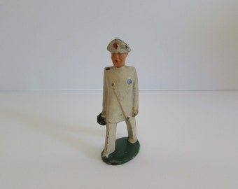 Barclay Manoil Cast Lead Soldier Medic Figure, Vintage Barclay Manoil Lead Figure, Lead Soldier Medic, Vintage Lead Figures, Barclay Manoil