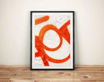 Orange Graffiti Series Original Photography Artwork Print Poster