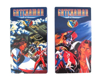 Gatchaman Vol 2 & 3 VHS Anime Manga Japanese Animation TV Show Space Creatures