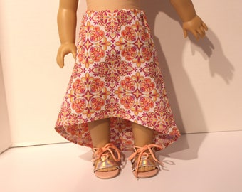 Hi-Lo Maxi Skirt for 18 Inch Dolls - American Made - 18 Inch Doll - Doll Clothes - Doll Skirt - HiLo Doll Skirt - High-Low Doll Skirt