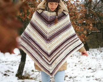 Knitted, Chunky, Soft and Warm Poncho