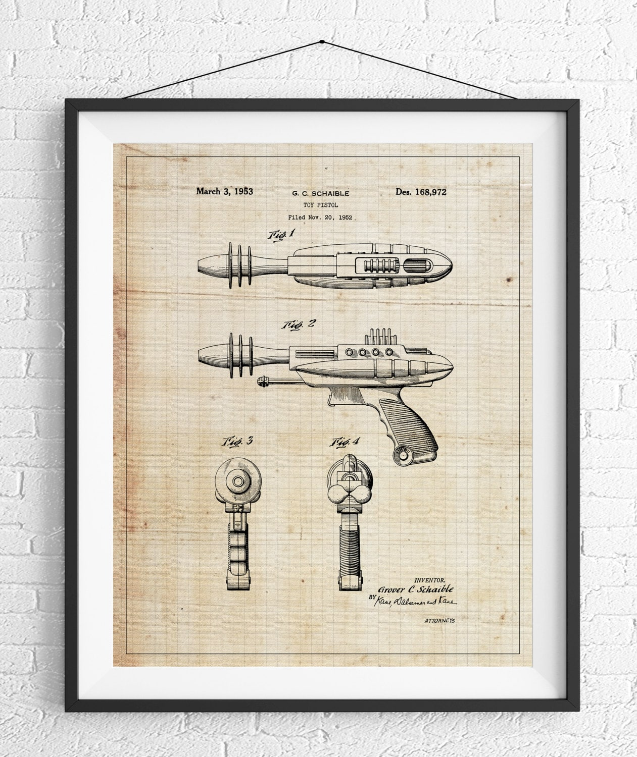 Toy gun patent print game room art toy art blueprint vintage toy gun patent print game room art toy art blueprint vintage patent poster toy pistol patent kids room boys room wall art industrial malvernweather Image collections