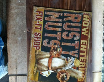 rusty nuts shop sign