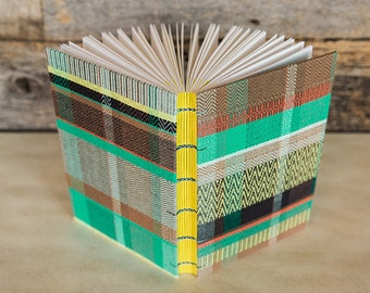 Handwoven fabric book — journal, sketchbook, or wedding book