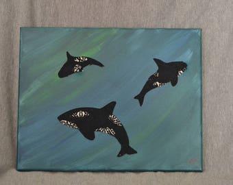 Whales- Ocean Nursery Art