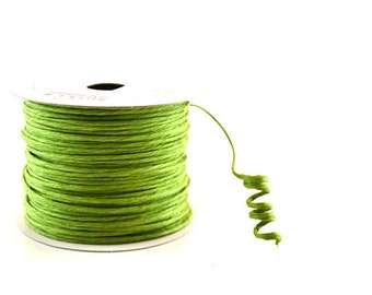 Paper Cord Green Wired Flexible Tourbillon Craft Cord 10 yards