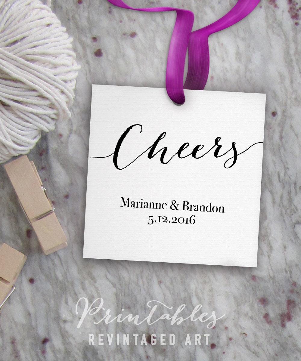 Cheers Tags Printable Editable Favor Tag Template // Wedding