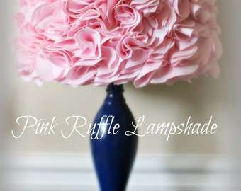 Ruffle lamp shade etsy pink ruffled lamp shade ruffles lampshade very beautiful perfect for nurseries rose petal style mozeypictures Gallery