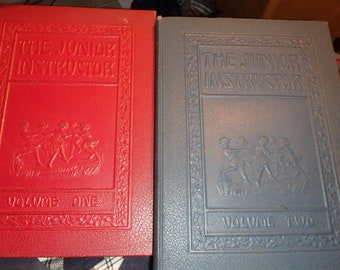 1936 editions- The Junior Instructor volumes 1 & 2-for teacher, parent  and child