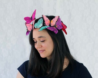 Tropical Butterfly Crown - princess, fairy, tropical, bride
