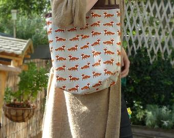 Tote Bag Fox Print | shopper |