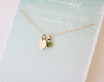 Bridesmaid necklaces - bridesmaid gift- wedding jewelry - personalized jewelry - jewelry gift - layering necklace - birthstones-gold lotus