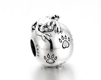 DeLageo, 925 Sterling Silver Sneaky Cat Charm,