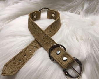 Leather Collar, BDSM Collar, Bondage Collar, Slave Collar, Submissive Collar, O Ring Collar, Fetish Collar, Locking Collar