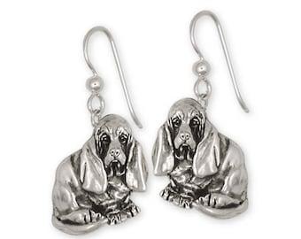 Basset Hound Earrings Jewelry Sterling Silver Handmade Dog Earrings BAS5-E