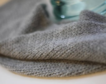 100% pure cashmere long mobius cowl (heather grey)