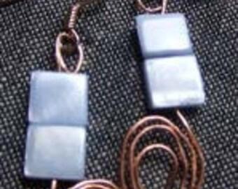 blue squares w/ copper