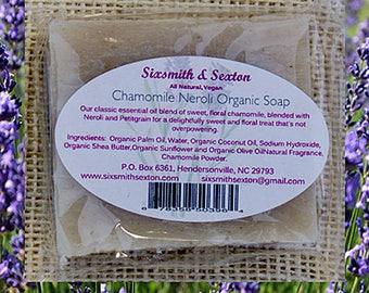 All Natural Vegan Chamomile Neroli Organic Handmade Soap