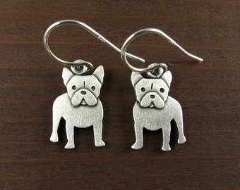 Tiny French bulldog earrings