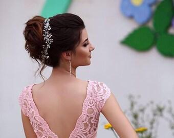 Rose gold bridal hairpiece bridal hair vine wedding accessories headband hair vine prom hair accessories hair wreath Crystal Headband wreath