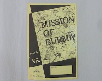 Mission Of Burma original flyer - Vintage 1980s Flyer -1982  band gig concert flyer - not filled in