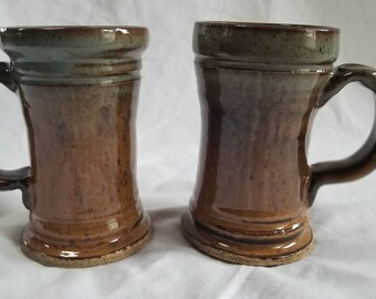 Fall inspired, hand thrown, tall mug. These are sold as individuals not a pair.