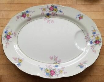 """Vintage Haviland Avalon Pattern  Large Serving Platter 16"""""""