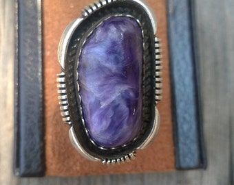 Edward Gruber Charoite Ring From The 1990's