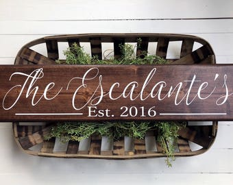 Family Name Established Sign | Personalized Sign | Family Name Sign | Last name sign | Family Established Signs | Personalized wedding gifts