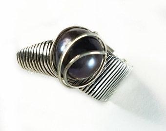 Silver Ring. Pearl Ring. Original ring. Striking ring. Silver ring. Original ring. Pearl Ring