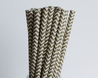Metallic Gold Chevron Paper Straws-Gold Straws-Wedding Straws-Chevron Straws-Mason Jar Straws-Gold Party Straws-Zigzag Straws-Paper Straws