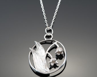 Sterling Silver Lily of the Valley Pendant and chain