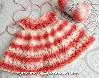 Knitted Baby Dress - Baby Dress