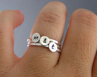Stack Rings, Sterling Silver Rings, Custom Rings, Personalized Rings, Set Of Three